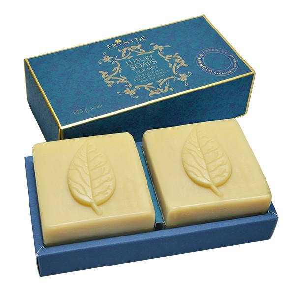 Luxury Soaps for Men with golden Jojoba, green Tea and Vetivert