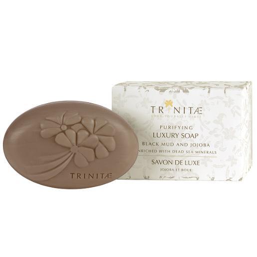 Trinitae purifying luxury soap black mud and jojoba